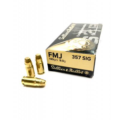 .357 SIG FMJ 140grs/9g Sellier&Bellot
