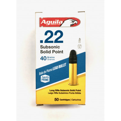 .22 LR AGUILA SUBSONIC SOLID POINT