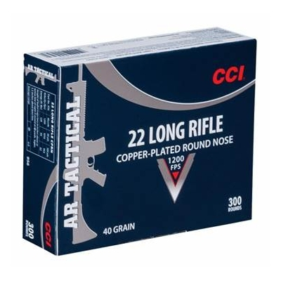 .22LR CCI, AR Tactical, 1200 FPS, 40GR, Copper Plated RN
